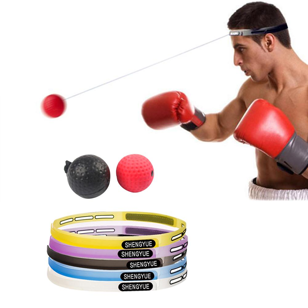 2 Difficulty Level Boxing Ball With Headband Head-mounted Reflex Ball For Coordination Ability Training Venting Decompression