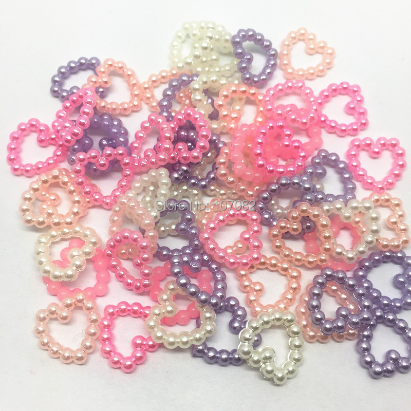 3000pcs 12x11mm/pc Multi Pearlished Heart Confettis Flatbacks Cabochons Resin Emebllishments Crafts For Scrapbooking Cardmaking