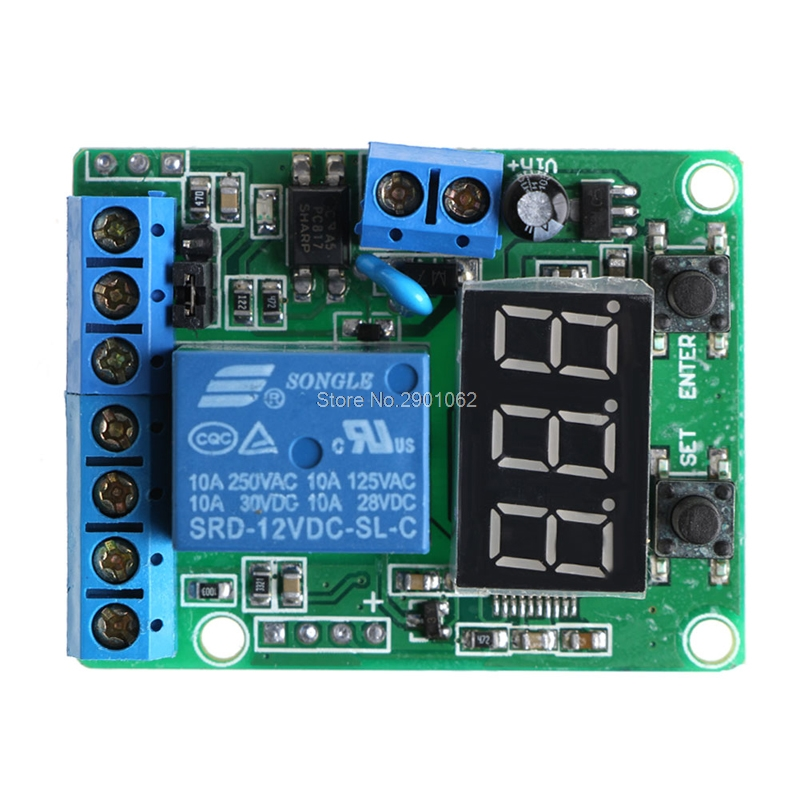 DC Relay Module Control Board 12V Switch Load Voltage protective Detection Test -B119 overcurrent protection switch module current detection board 12v 10a for dc motors short curcuid self stalled overload detection