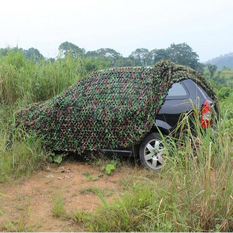 Outdoor Camping Hunting Camouflage Netting Shade Military Woodlands Camo Net Edges Car-covers Roof Garage Canopy Tent Shelter wholesale 6m 8m car covers green military camouflage net sun shelter camouflage net tent car covers camouflage netting tent
