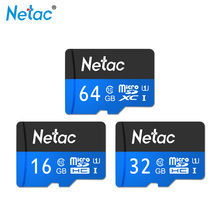 Netac Micro SD Card Class 10 16GB 32GB SDHC UHS-I Flash Card Memory Card 64GB SDXC TF Card For Smartphone Camera MP3