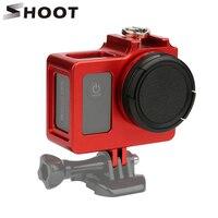 Aluminum Alloy SJ4000 Protective Housing Case Metal Frame Lens Cover UV Filter For SJCAM SJ4000 WIFI