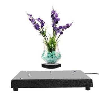 Pot de fleur LED Rotation Lévitation Magnétique Bricolage Flottant Étagère