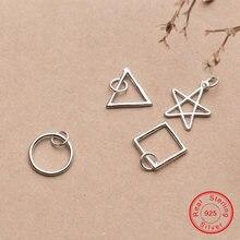 Женские шармы подвески из серебра 925 пробы с геометрическим