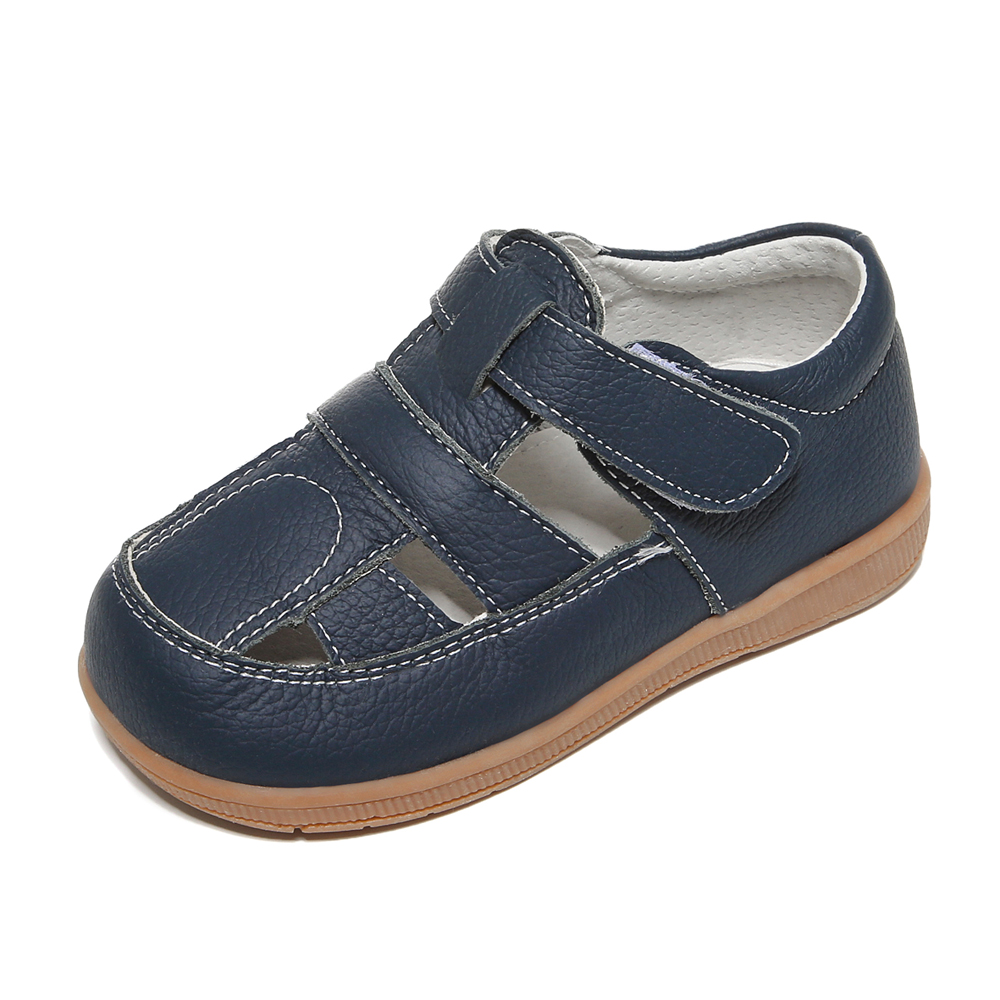 Baby Boys Sandals Genuine Leather White Navy Closed Toe 2019 Summer New Durable Popular Antislip Soft Sole Comfortable  SandQ
