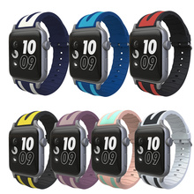 Silicone Strap for Apple Watch Band 40mm 44mm 42mm 38mm for Iwatch Series 4/3/2/1 Bracelet Rubber Wrist Watch Belt