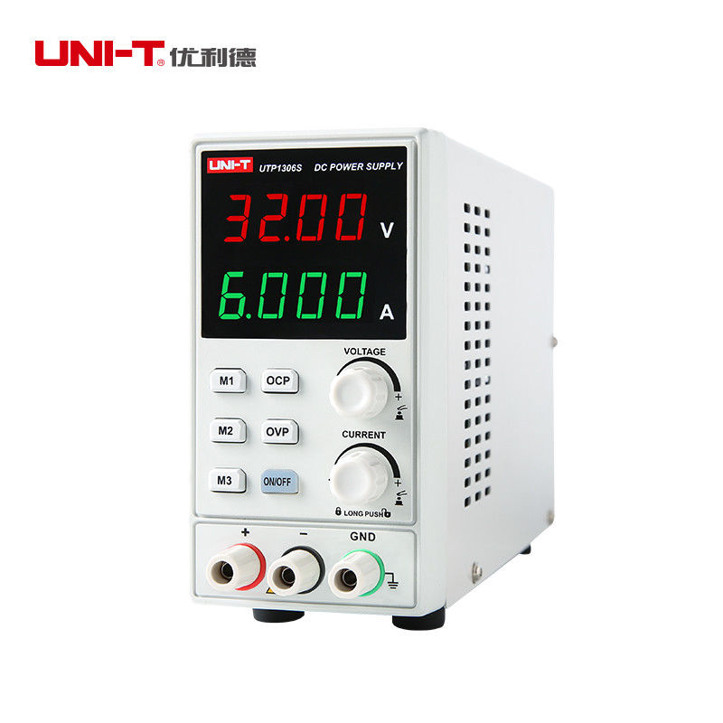 UNI-T UTP1306S Regulated Switch DC Power Supply Adjustable 32V 6A Single Channel 4Bits 220V Input OVP Mobile Phone Repair