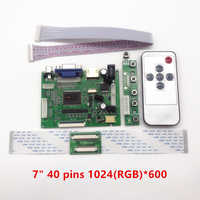 Latumab-placa controladora LCD TTL LVDS, HDMI, VGA, 2AV, 50 pines para AT070TN90, 92, 94, compatible con placa controladora Raspberry Pi automática