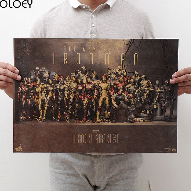 1PC Movie Marvel Poster Avengers Infinity War Retro Poster Prints High Quality  Wall Stickers  For Living Room Home Decoration