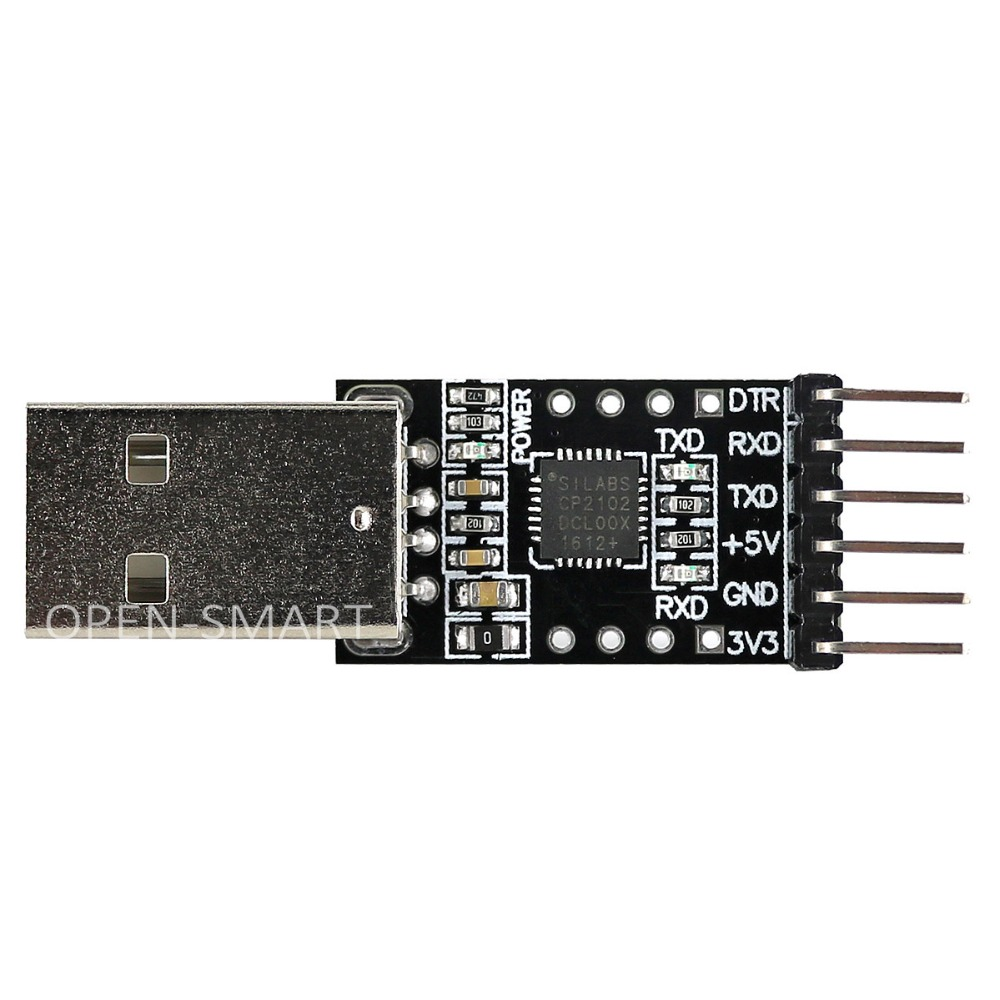 OPEN-SMART CP2102 USB To TTL Serial Adapter Module USB To UART Converter Debugger Programmer  For Lilypad / Arduino Pro Mini