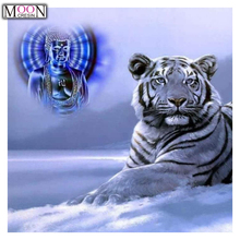 MOONCRESIN DIY Diamond Painting Cross Stitch Blue Tiger Diamond Embroider Full Square Drill Mosaic Decoration Rhinestones Animal motorcycle exhaust middle link pipe slip on for honda cbr500r 2013 2015