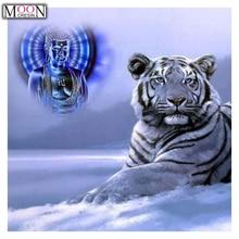 MOONCRESIN DIY Diamond Painting Cross Stitch Blue Tiger Diamond Embroider Full Square Drill Mosaic Decoration Rhinestones Animal iek lle g45 9 230 30 e27 лампа светодиодная eco g45 шар 9вт 230в 3000к e27