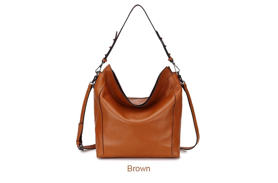 Bag Ladies Genuine Leather Shoulder Bag Hobo Women\'S Genuine Leather Handbags Big Female Tote Hand Bag Messenger Bag