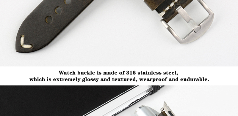 High Quality brown watch strap