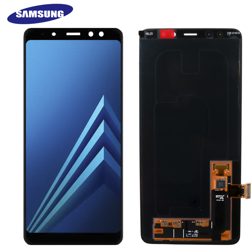 100 ORIGINAL AMOLED Display LCD For SAMSUNG Galaxy A8 Plus 2018 A730 LCD Display Touch Screen
