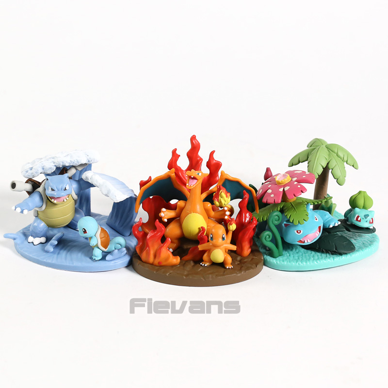 Anime Monsters Squirtle Blastoise Bulbasaur Venusaur Charmander Charizard Mini PVC Figures Toys Dolls 3pcs/setAnime Monsters Squirtle Blastoise Bulbasaur Venusaur Charmander Charizard Mini PVC Figures Toys Dolls 3pcs/set