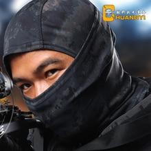 Multicam Balaclava Camouflage Tactical Hattar Motorcykel MilitarySki Jakt Utomhus Paintball Cykling Vandring Gear Full Face Mask