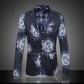 2016 High Quality Autumn New Casual Fashion Floral Suits Blazers Men Plus Size 3XL 4XL 5XL 6XL