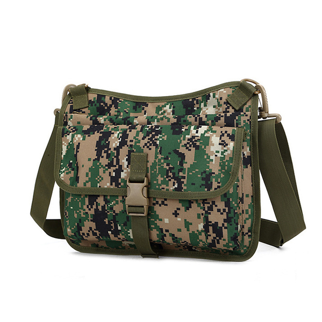 Camouflage Printing Leisure Package Organic Camo Single Shoulder Messenger Crossbody Men's Ipad Bag 10-inch Tablet PC File Bags