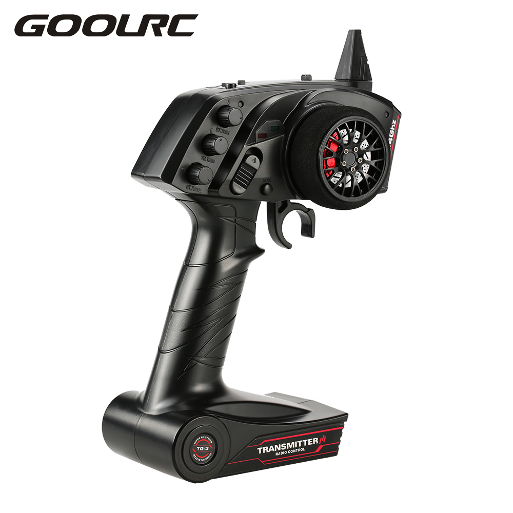 GoolRC TG3 2.4GHz 3CH Digital RC Radio Remote Control Transmitter with Receiver for RC Car Boat RC Transmitter Parts goolrc brand ax5s 2 4g 3ch afhs radio rc transmitter with receiver super active passive anti jamming for rc car boat