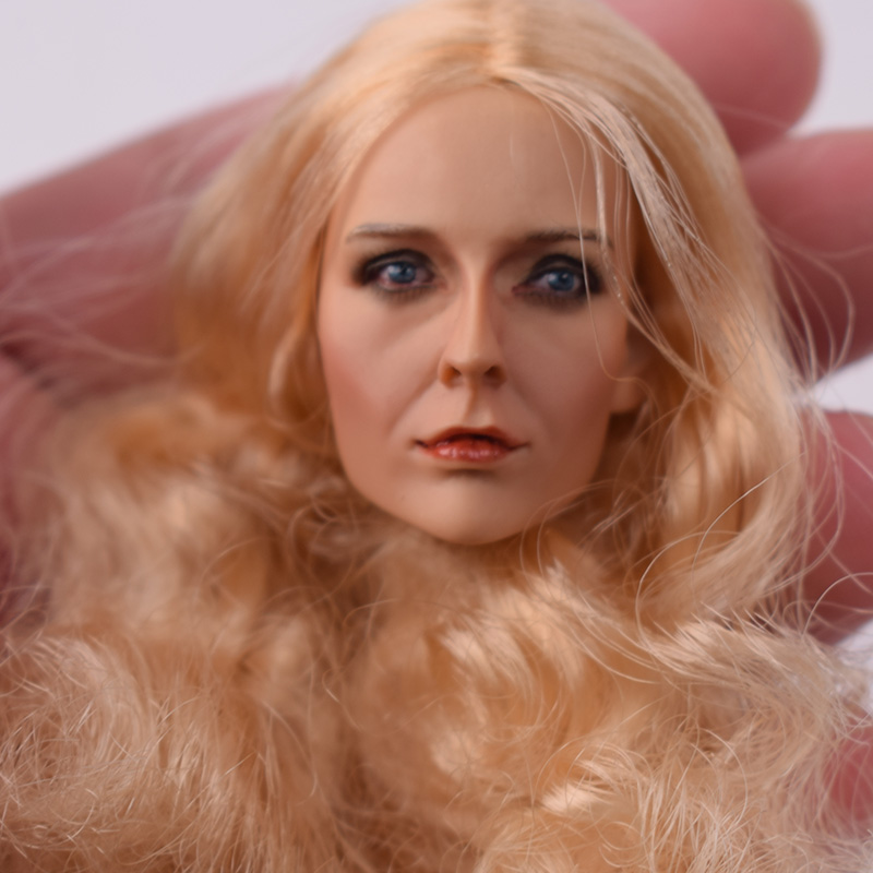 Toys 1 6 Scale KUMIK Female Head Sculpt For 12 quot Phicen Hot Toys Fish sitting Action Figure Body KM13 74 Carving Model Toys Doll in Action amp Toy Figures from Toys amp Hobbies
