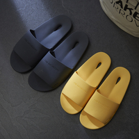2017 New Bathroom Slippers Summer Couple Home Indoor Thick Non Slip Bath Slippers Plastic Soft Bottom