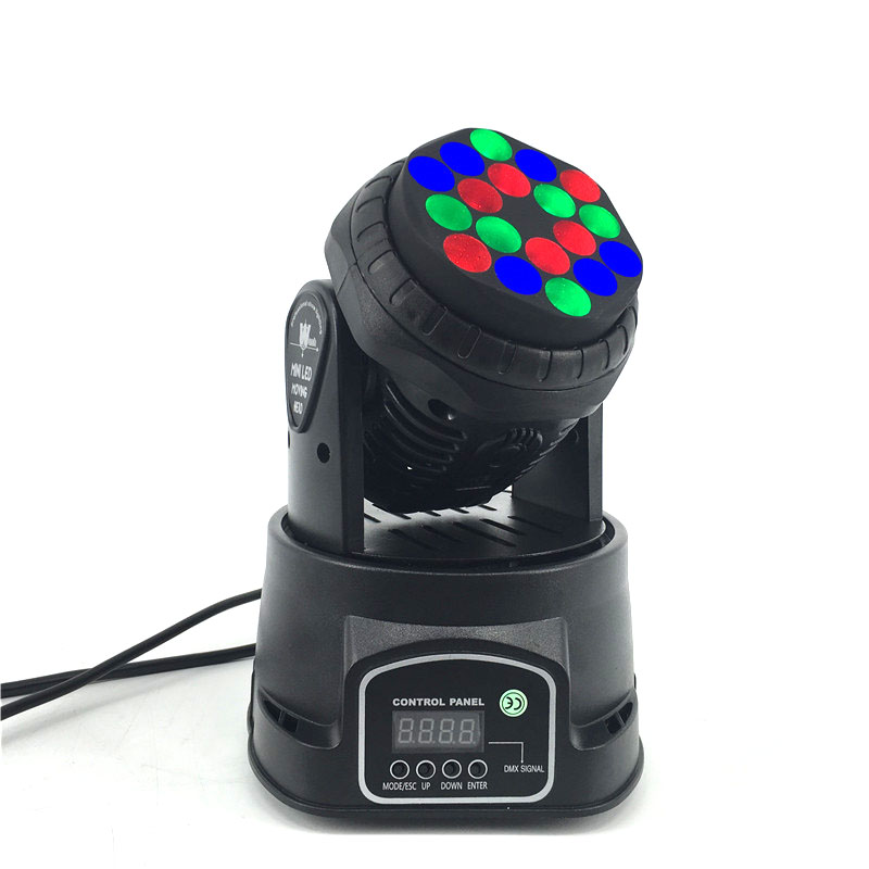 8pcs/lot LED 18x3W RGB Beam Moving Head Stage Lighting For Event,Disco Party Nightclub SHEHDS DMX512 Stage Lighting fast shipping professional stage lighting led mini 18x3w wash moving head light for event disco party nightclub
