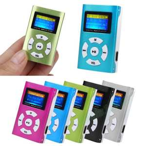 AIKEGLOBAL Music-Player Support Lcd-Screen Tf-Card Hifi Mini Mp3 Micro-Sd 32GB Rechargeab