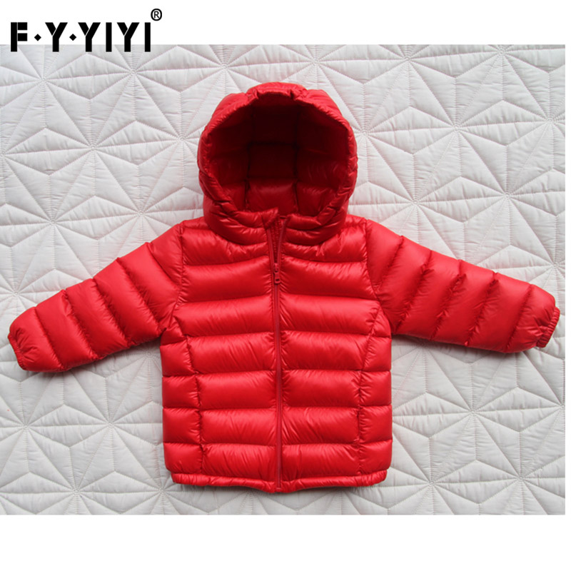 Baby thin down jacket Children's clothes Boys and girls' clothes High quality white duck down Thick coat new autumn winter little boys girls baby solid color cute rabbit thick warm long coat white duck down jacket outwear clothes