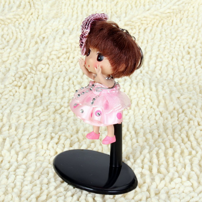 Adjustable Metal Silver Black Doll Stand Holder Bracket Support for Dolls Under 40cm Dollhouse Accessories Toy Store Display цена 2017