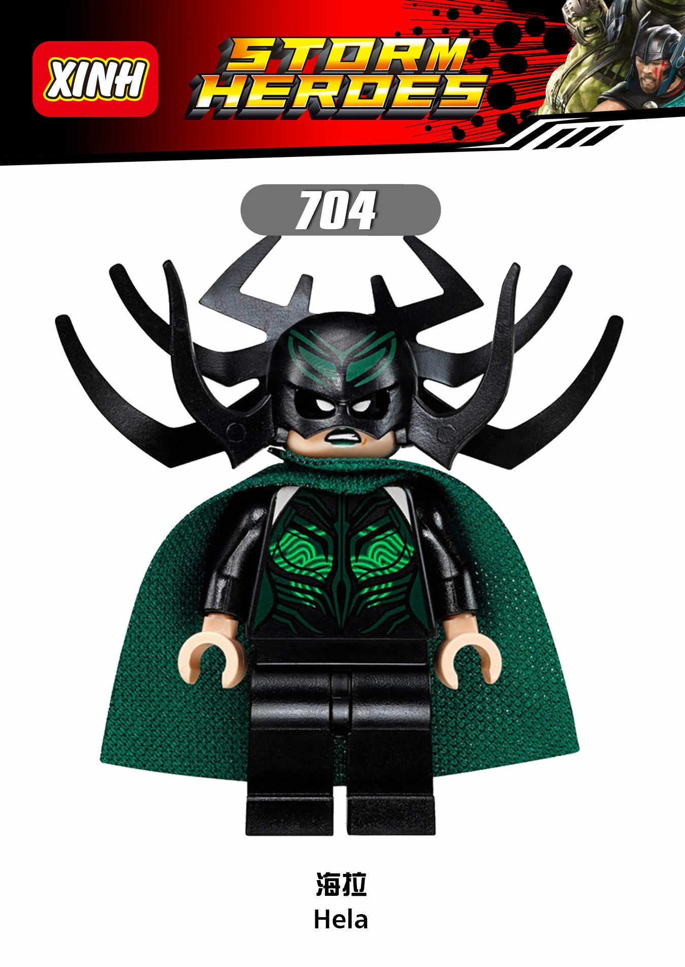 Marvel Super Heroes Racing Hela Thor Bruce Banner Berserker Valky Legoed Building Blocks Action Figures Giocattoli Per I Bambini
