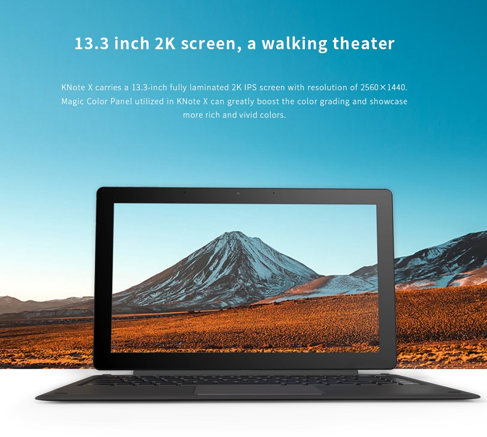 Original Box Alldocube KNote X Windows 10 128GB IPS 2560*1440 Intel Gemini Lake N4100 Quad Core 13.3 Inch 2-in-1Tablet Computer