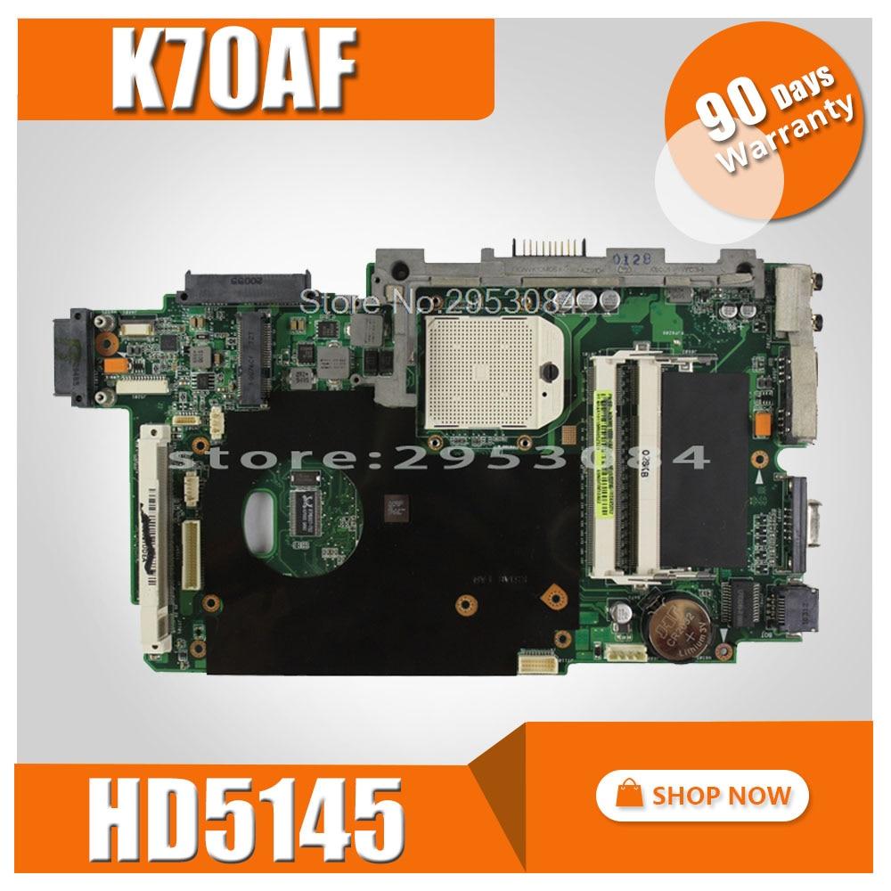 K70AF motherboard REV2.1/2.3 HD5145 512M For ASUS K70 K70AF K70AB K70AD laptop motherboard K70AF mainboard K70AF motherboard все цены