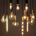 Antique LED Filament Light Bulbs Vintage Edison Lamp E27 4W 6W 8W Clear Glass Retro Globes Lighting COB Bulb Bombillas Lampada