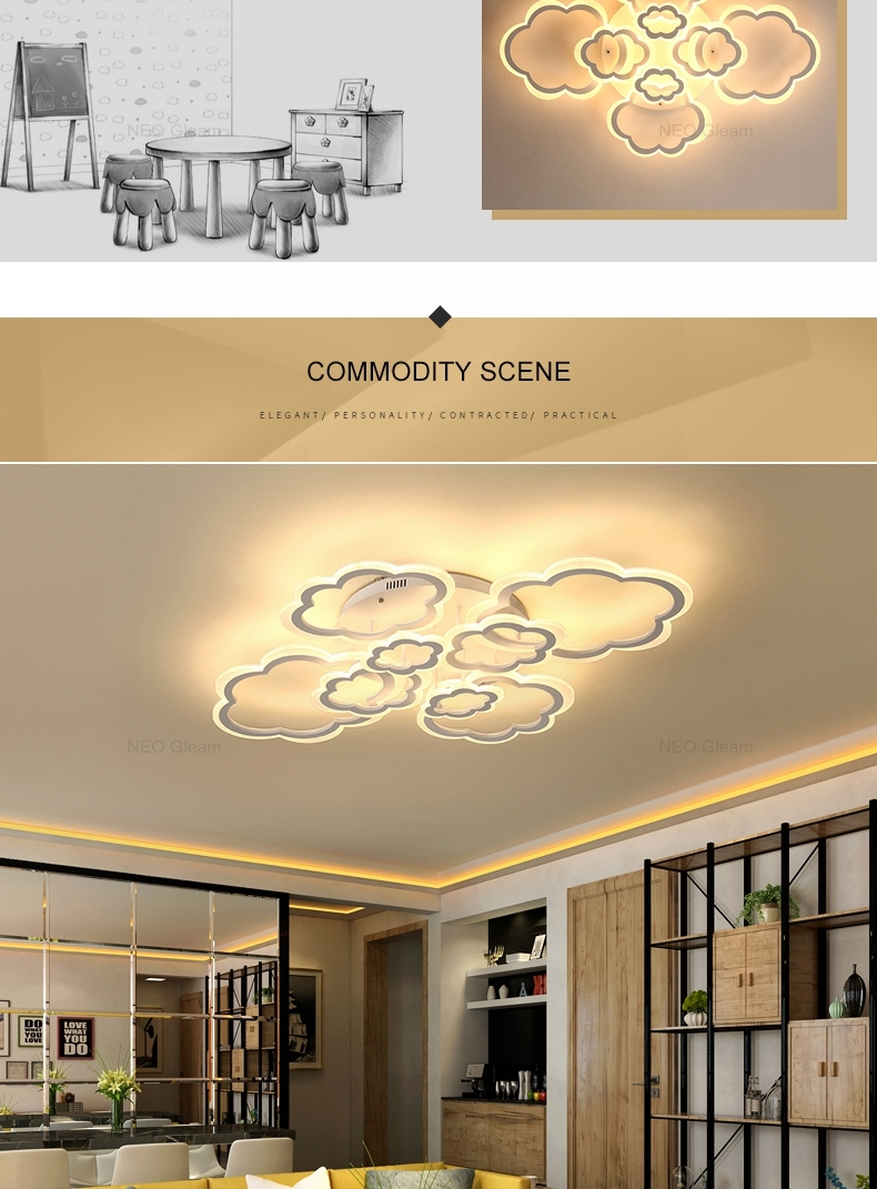HTB1aUQpbh rK1RkHFqDq6yJAFXag Clouds Designer Minimalist Modern led ceiling lights for living Study room bedroom AC85-265V modern led ceiling lamp fixtures