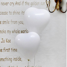 40pcs/lot white red pink yellow blue purple heart balloon 10 inch 2.2g  latex balloons wedding Valentines Day party ballon