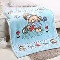Бесплатная доставка мешки утолщение двойной слой ребенок одеяло ватки фланель одеяло 105 см х 135 см