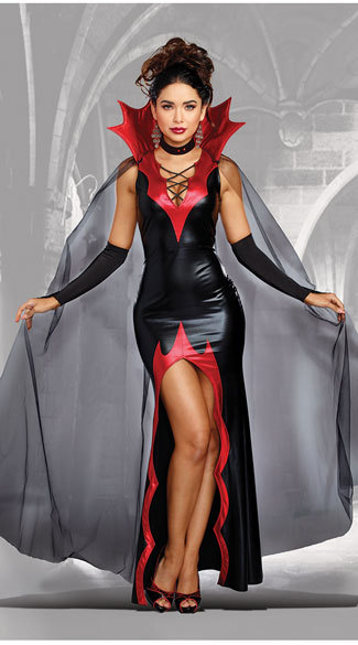 VASHE Halloween Gothic Vampire Role Cosplay Party Suit Adult Queen Vampire Costume Clothing Female Vampire Outfit