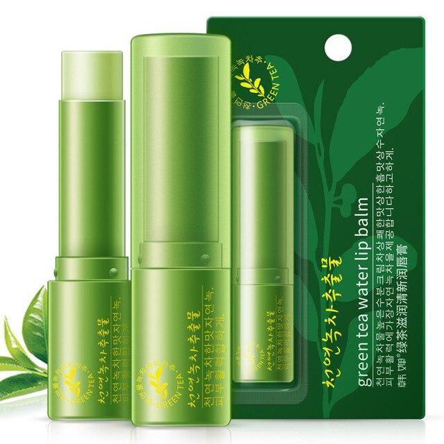 1 pcs Natural Green tea Lip Balm Plant Moisturizing Lipbalm Sweet Women Skin Care Makeup Lip Lines maquillage