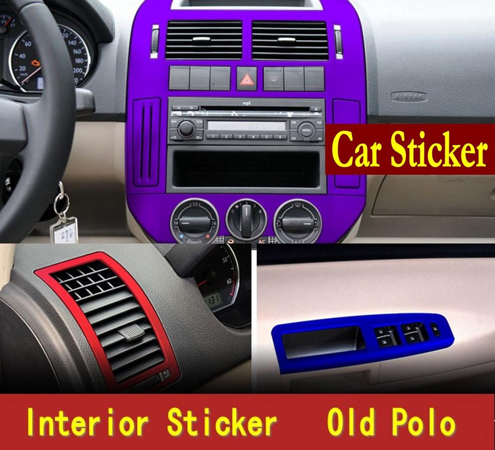 Car old polo Interior refit sticker film carbon fiber film decorative paste molding without cutting