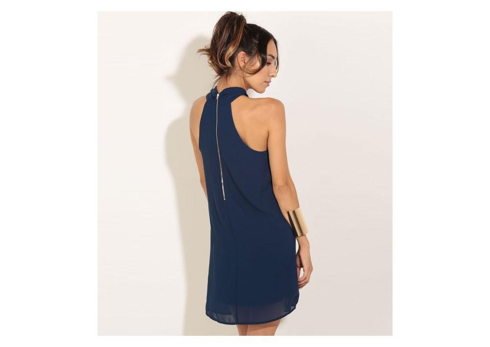 Women Chiffon Dress 17 Summer Dress Eliacher Brand Plus Size Chic sexy Sleeveless Evening Party Halter Shift Blue Dresses 5