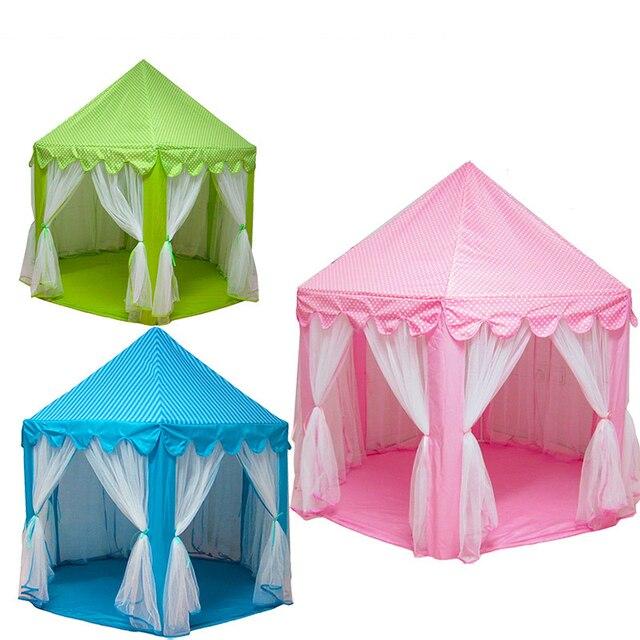 US $74.45  Tragbare Kinder Lustige Indoor Outdoor Spielhaus Prinzessin Burg  Spielzelt Kinder Aktivität Fairy Haus Strand Zelt Baby spielen Spielzeug ...