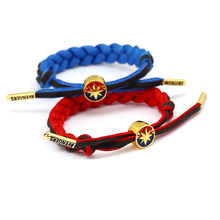 Avengers Captain Marvel Bracelets Reflective Tape Adjustable Braided Bracelet Men Reflect Light Weave Shoelace Lovers Wristband