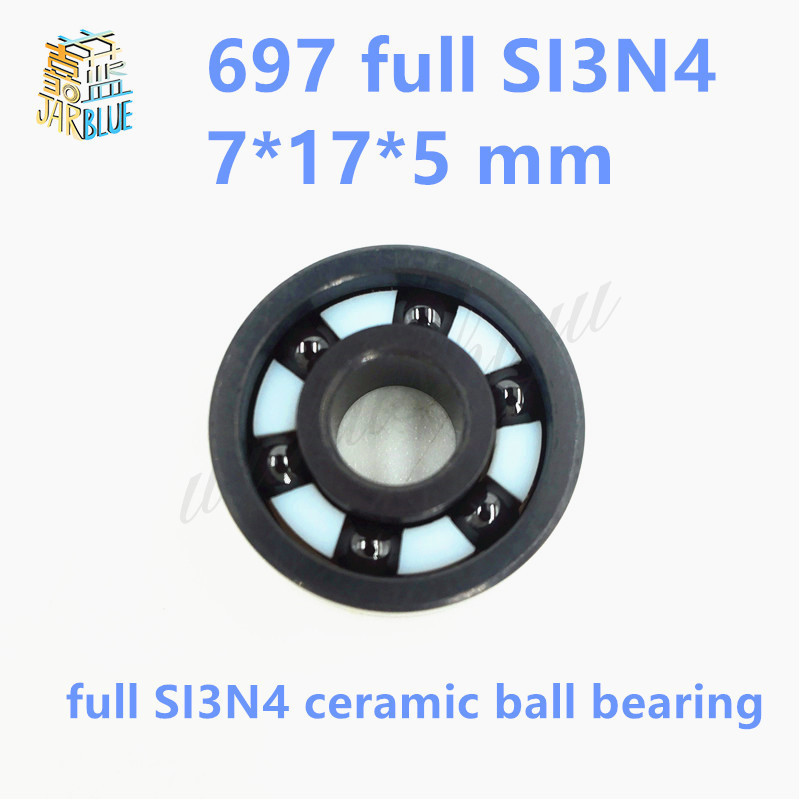 Free Shipping 697 SI3N4 CERAMIC 619/7 7*17*5 mm Full SI3N4 ceramic ball bearing free shipping 697 619 7 7x17x5 mm full zro2 ceramic ball bearing