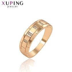 Xuping eleganckie pierścionki syntetyczna sześcienna cyrkonia Temperament biżuteria dla dziewczyny kobiety ładna biżuteria na urodziny prezent 16016