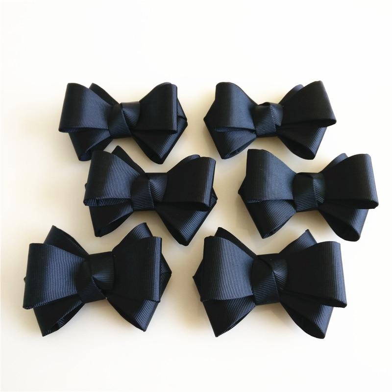 2PCS Fabric Shoes Bow Shoe Charms Shoe Decoration For Women High Heels Shoe Accessoires Bowknot DIY Shoe Charm Black