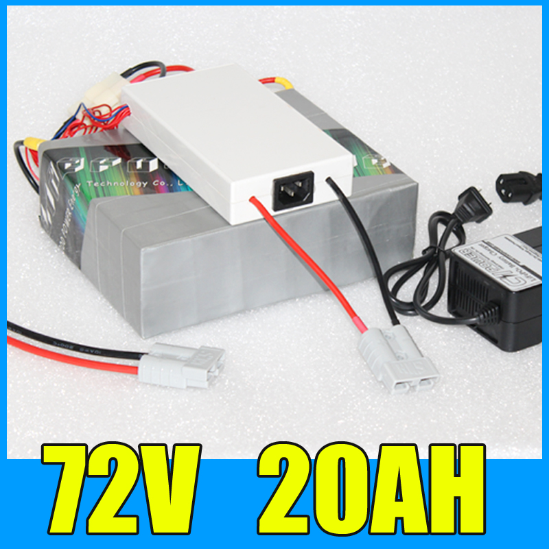 72V 20AH Lithium Battery Pack , 84V 1500W Electric bicycle Scooter solar energy Battery , Free BMS Charger Shipping free customs taxes super power 1000w 48v li ion battery pack with 30a bms 48v 15ah lithium battery pack for panasonic cell