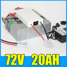 72V 20AH Lithium Battery Pack , 84V 1500W Electric bicycle Scooter solar energy Free BMS Charger Shipping