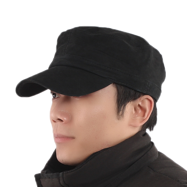 New year gift Genuine leather cap autumn and winter casual cadet cap  outdoor full male style warm hat 17652ee86604