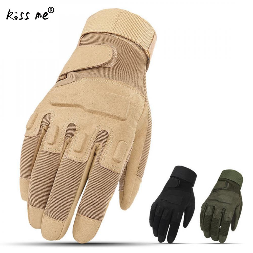 Motorcycle Gloves Winter Summer Non-Slip Hard Knuckle Full Finger Motocross Motor Racing Riding Gloves Military Training